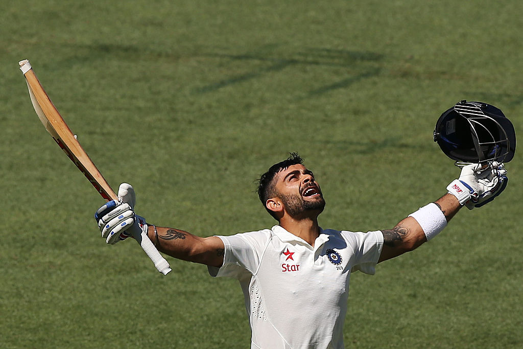 Kohli has scored three Test tons in four innings at the Adelaide Oval.