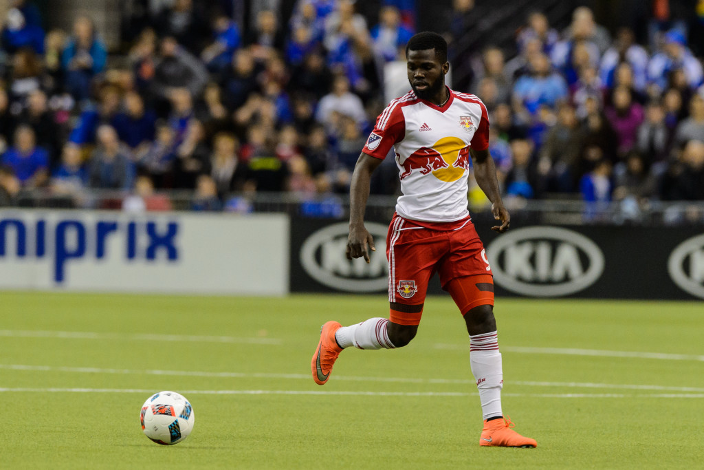 Kemar Lawrence in action for New York Red Bulls