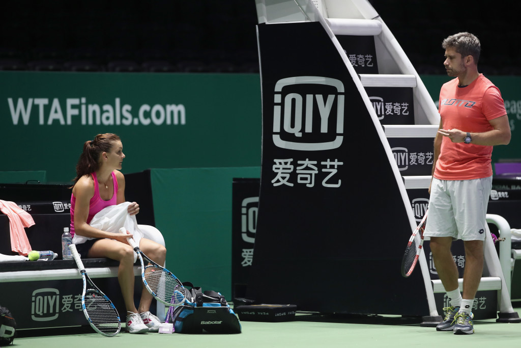 Radwanska and her coach Wiktorowski.