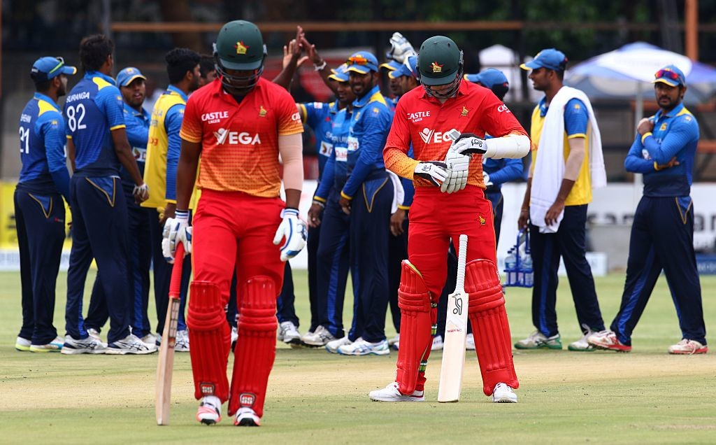 Sri Lanka had been beaten 3-2 by Zimbabwe in their own backyard earlier.