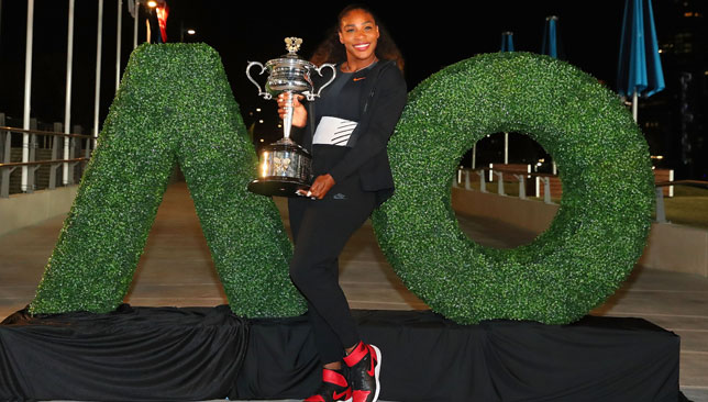 Serena Williams enters for Australian Open