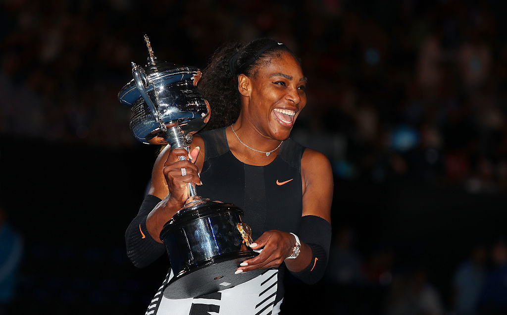 Williams won a record seventh Australian Open crown.