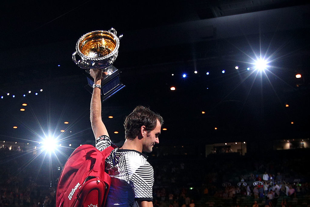 Federer won two Grand Slam titles in 2017 to take the award.