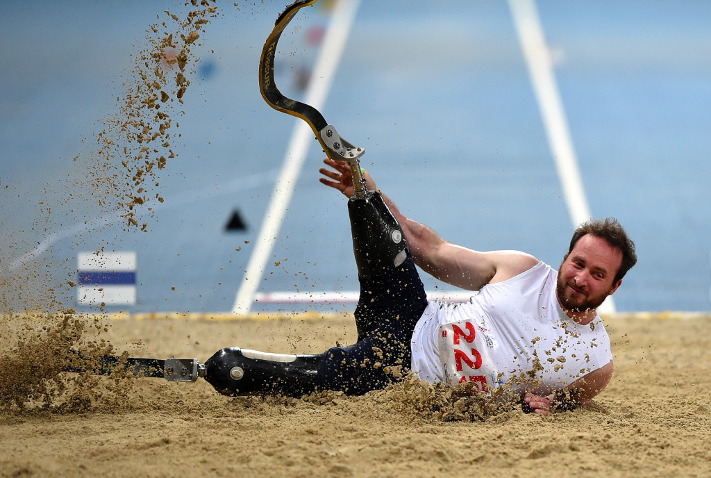 GB's Luke Sinnott competes in the Long Jump final during the Fazza Athletics Grand Prix in Dubai last March.