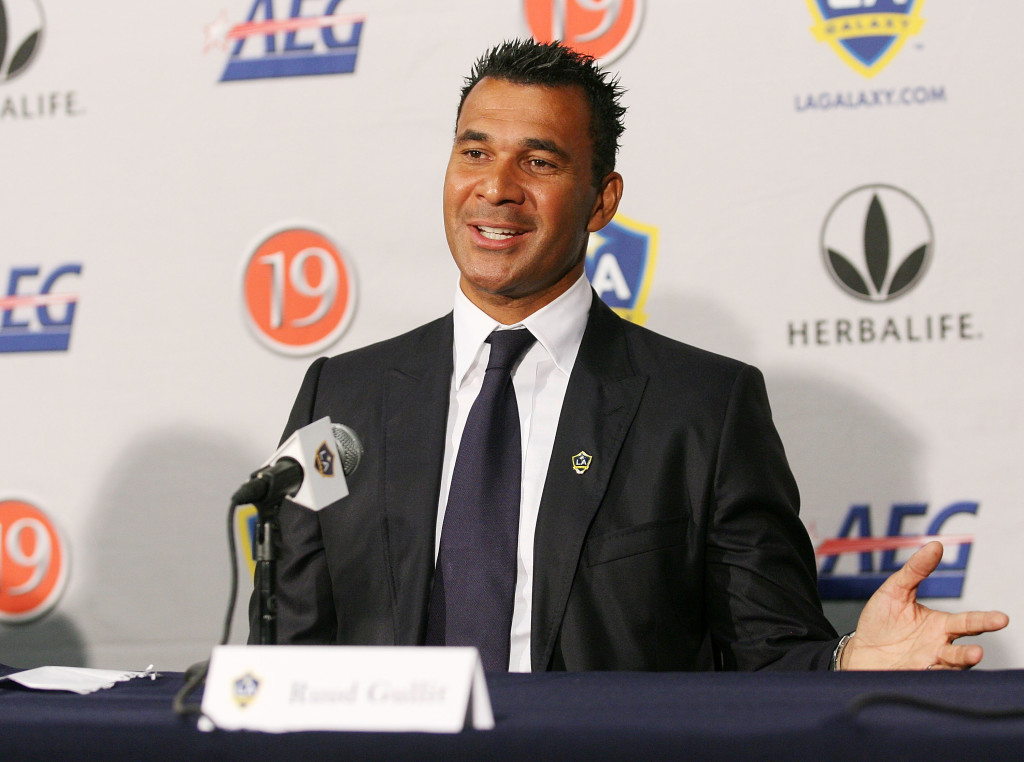 Gullit was working as a TV presenter at the time of the incident.