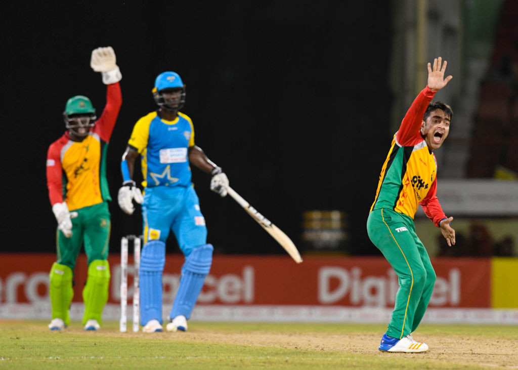 Rashid became the first bowler to take a hat-trick in the CPL.