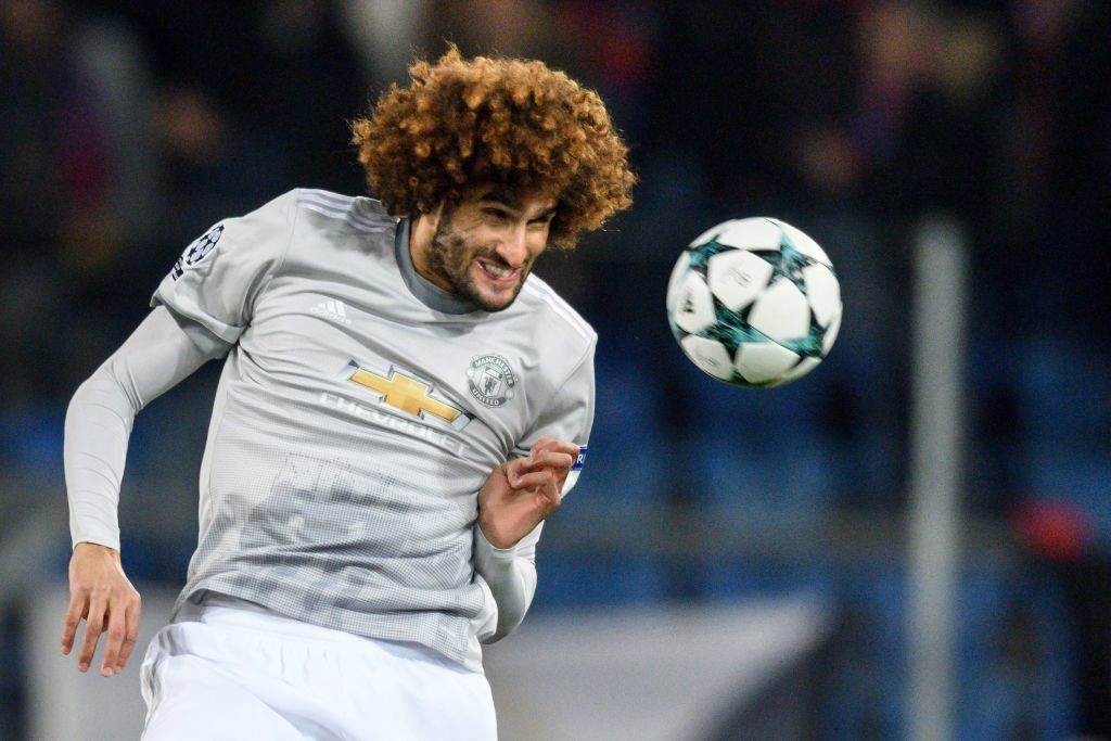 Fellaini's aerial threat has previously been utilised as a support striker.