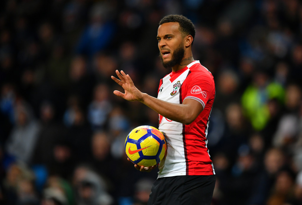 Southampton left-back Ryan Bertrand