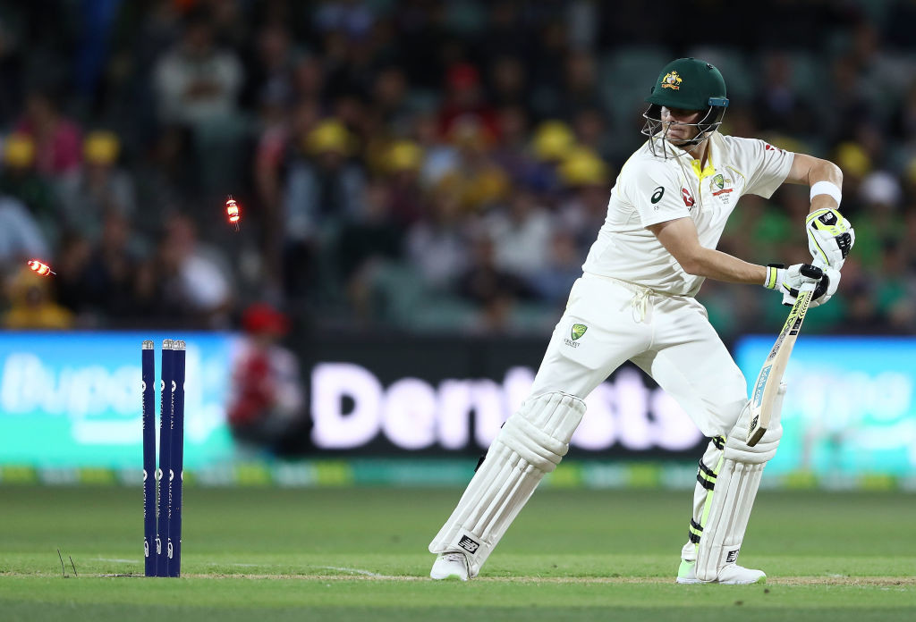 Smith could only inside-edge Overton's delivery onto the stumps.