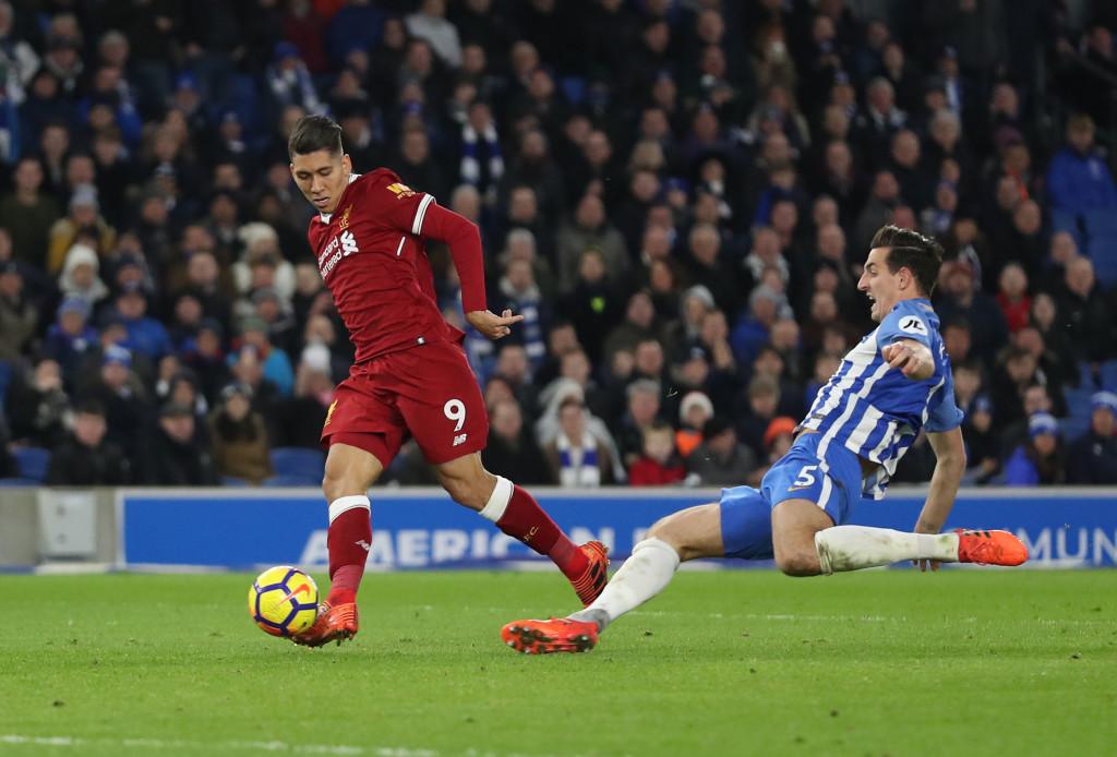 Roberto Firmino scores his sides third goal