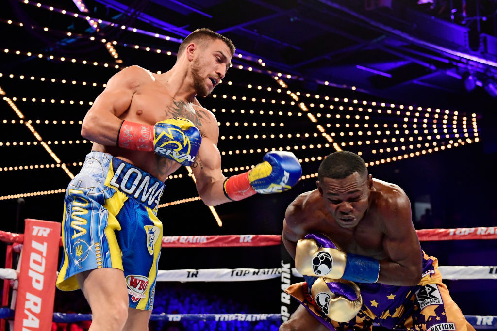 Lomachenko landed 55 punches compared to the Cuban's 15.