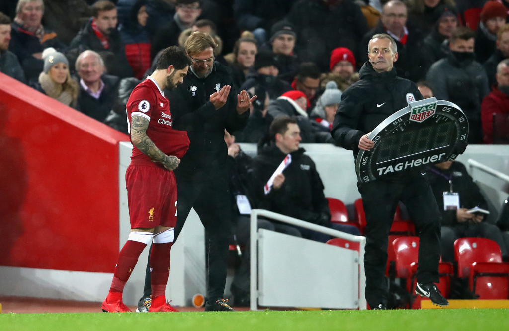 Danny Ings comes on for his appearance of the season against Everton