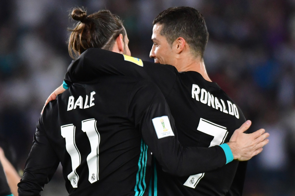 Gareth Bale and Cristiano Ronaldo celebrate the former's winner