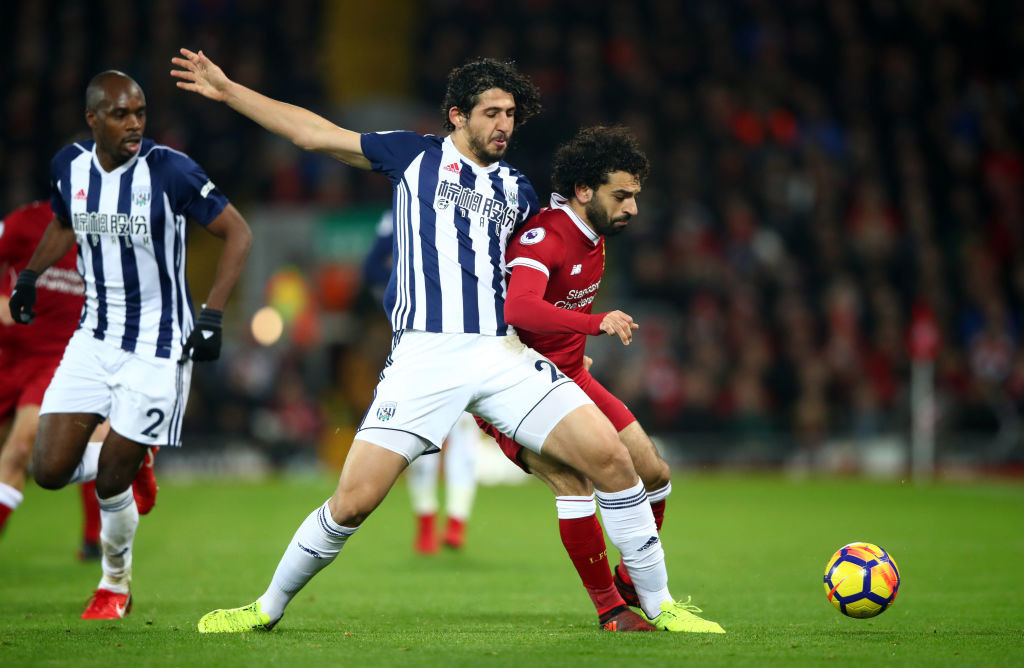 Hegazi helped West Brom to a clean sheet against Liverpool.