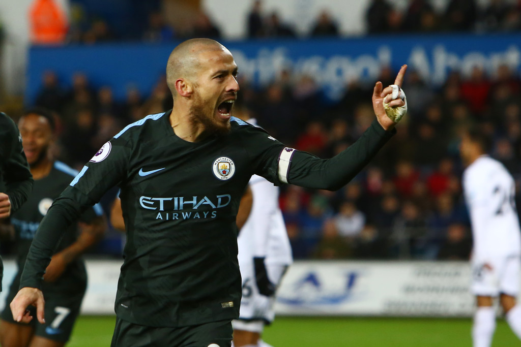 Manchester City's vice-captain David Silva
