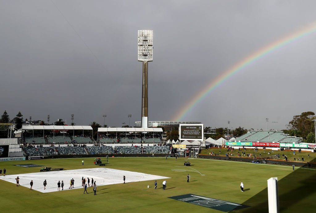 Rain has been been forecast on the final day of the Test.