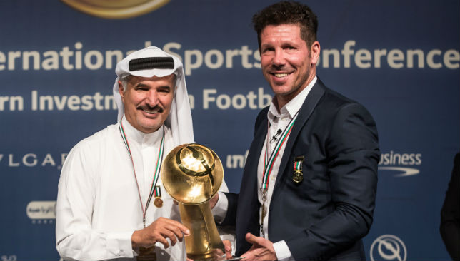 Saeed Hareb (l) is secretary general of the Dubai Sports Council.