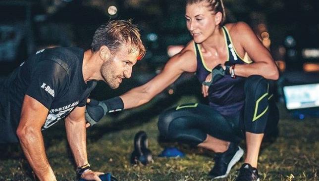 No limits: Kolaric (r) s comfortable training men or women.