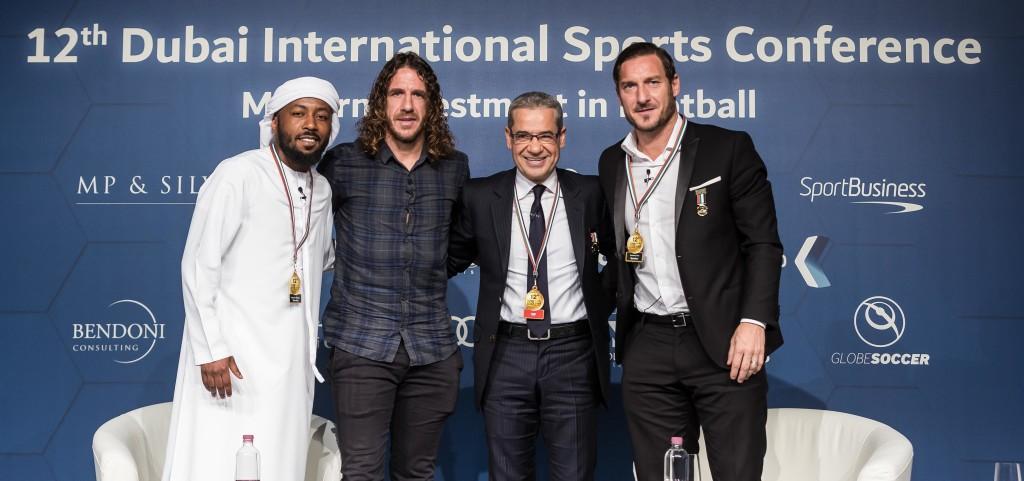 Ismael Matar Carlos Puyol, Mustafa Agha and Francesco Totti.