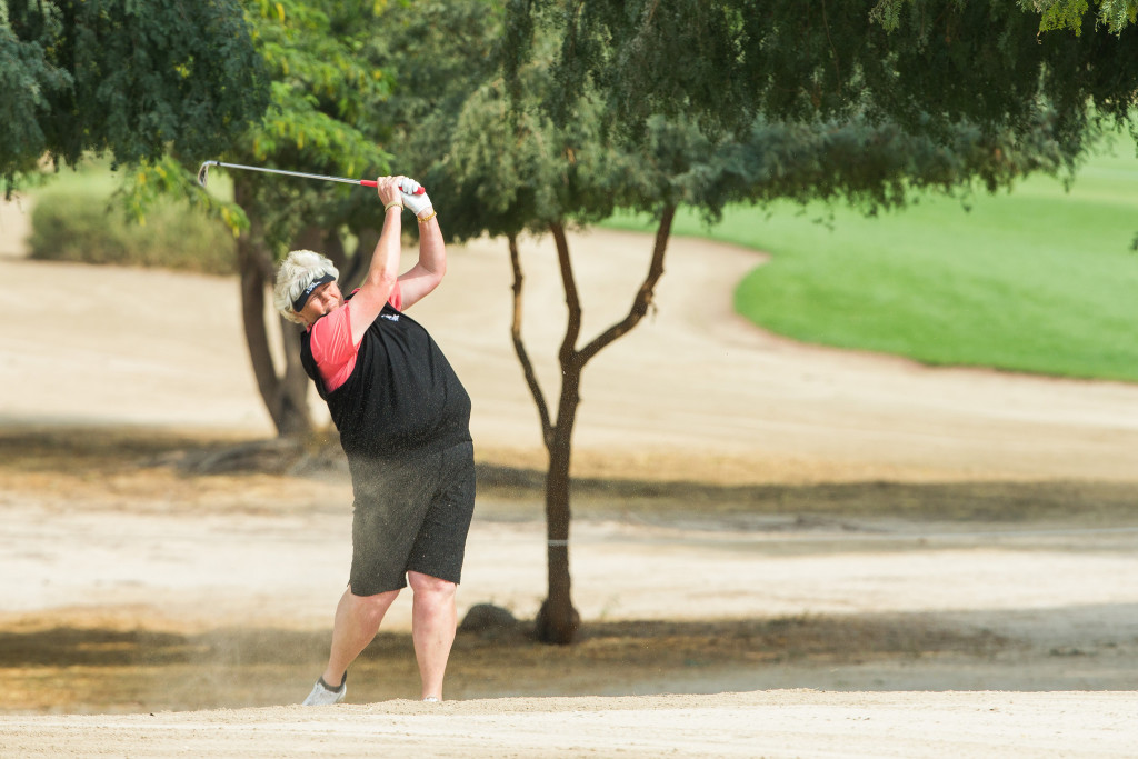 Laura Davies also put in a god performance on day three.