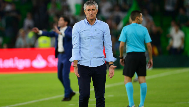 Quique Setien has endured a poor second half of the season at Betis.