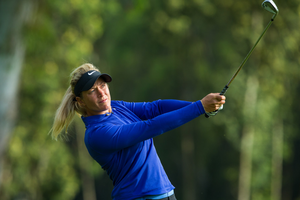 14/04/2017 Ladies European Tour 2016: Lalla Meryem Cup, Royal Golf Dar Es-Salam, Rabat, Morocco. 13-16 April 2017. Suzann Pettersen of Norway during the second round. Credit: Tristan Jones
