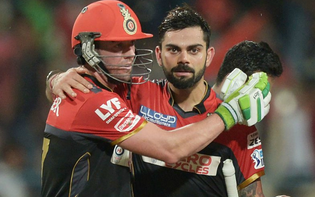 Kohli and De Villiers have played together for RCB in the IPL.
