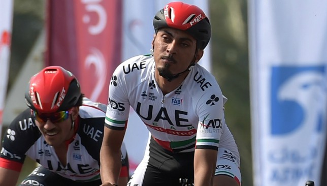 Yousif Mirza is one of 13 different nationalities among 26 UAE Team Emirates riders.
