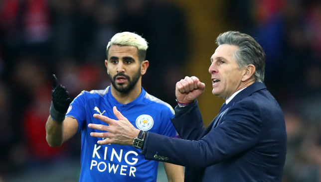 Split: Riyad Mahrez has fallen out with Claude Puel and Leicester over the failed transfer.