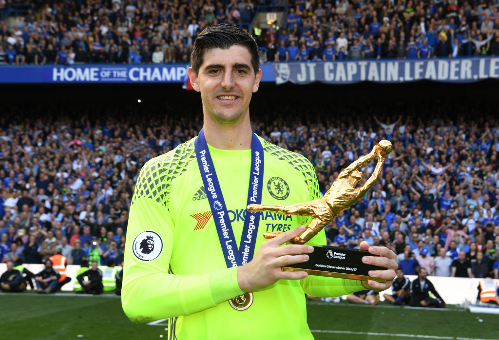Courtois has yet to agree a new Chelsea contract.