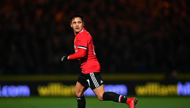 Alexis Sanchez will make his Premier League bow for Man United on Wednesday.
