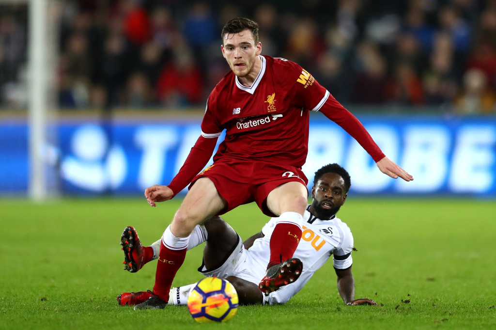 Robertson has been impressive in his first season for Liverpool