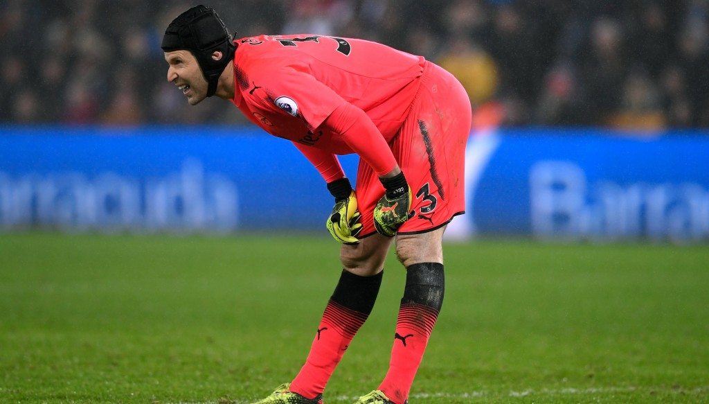 Petr Cech looked a shadow of himself against Swansea.