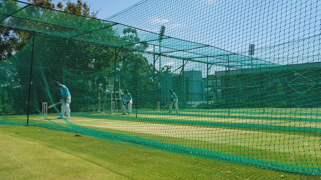 Batsmen at work in the nets. Credit: BCCI Twitter