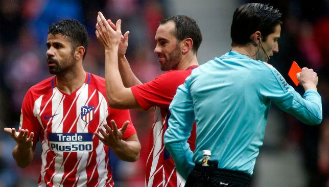 Simeone understands Costa red