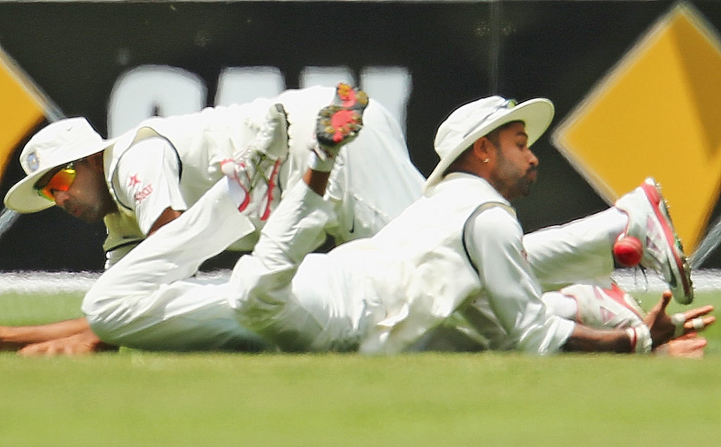 Dhawan was guilty of dropping a sitter off Maharaj.