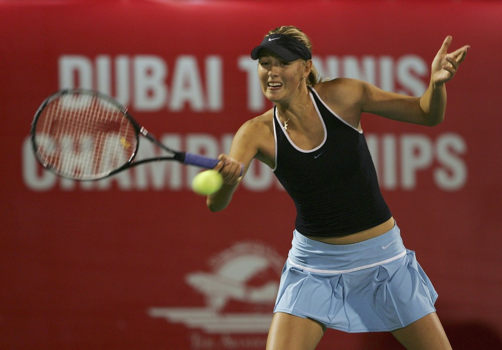 Sharapova during the 2006 Dubai final.