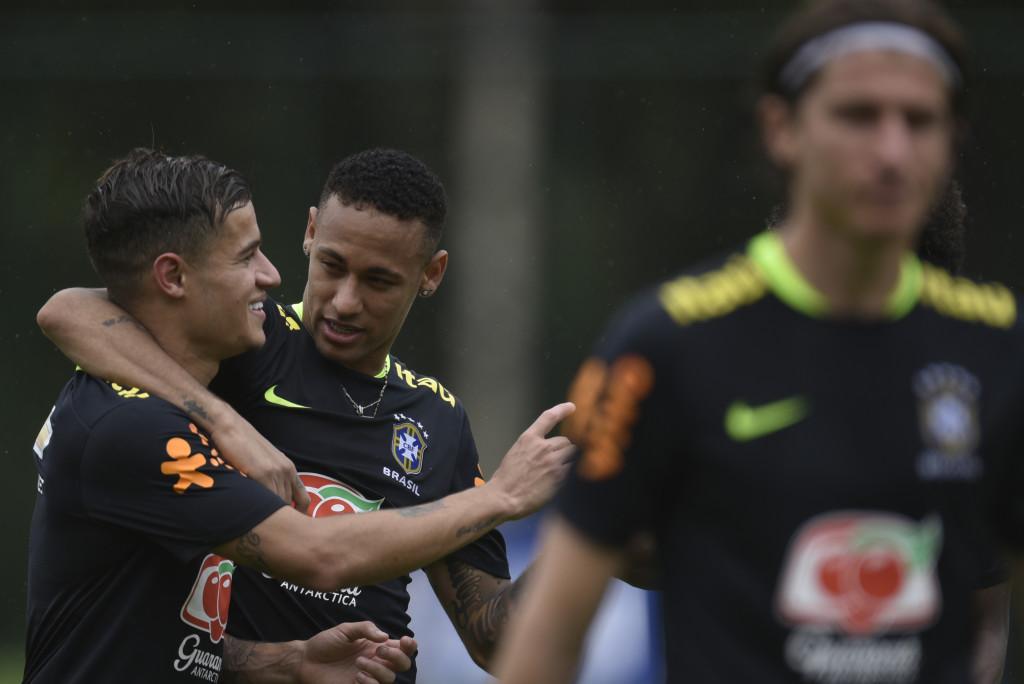 Brazilian buddies: Coutinho and Neymar