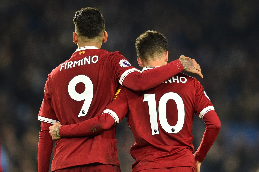Breaking up: Firmino and Coutinho