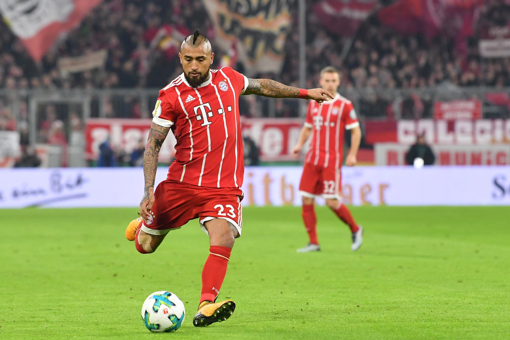 Arturo Vidal in action for Bayern Munich this season