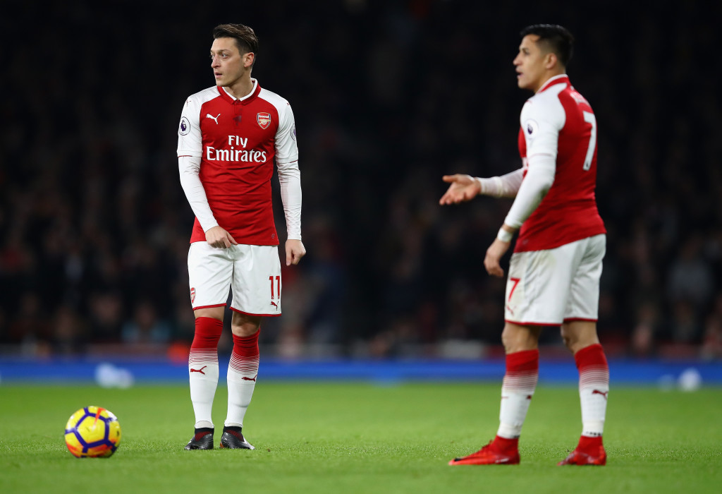 Alexis Sanchez and Mesut Ozil are both out of contract in the summer