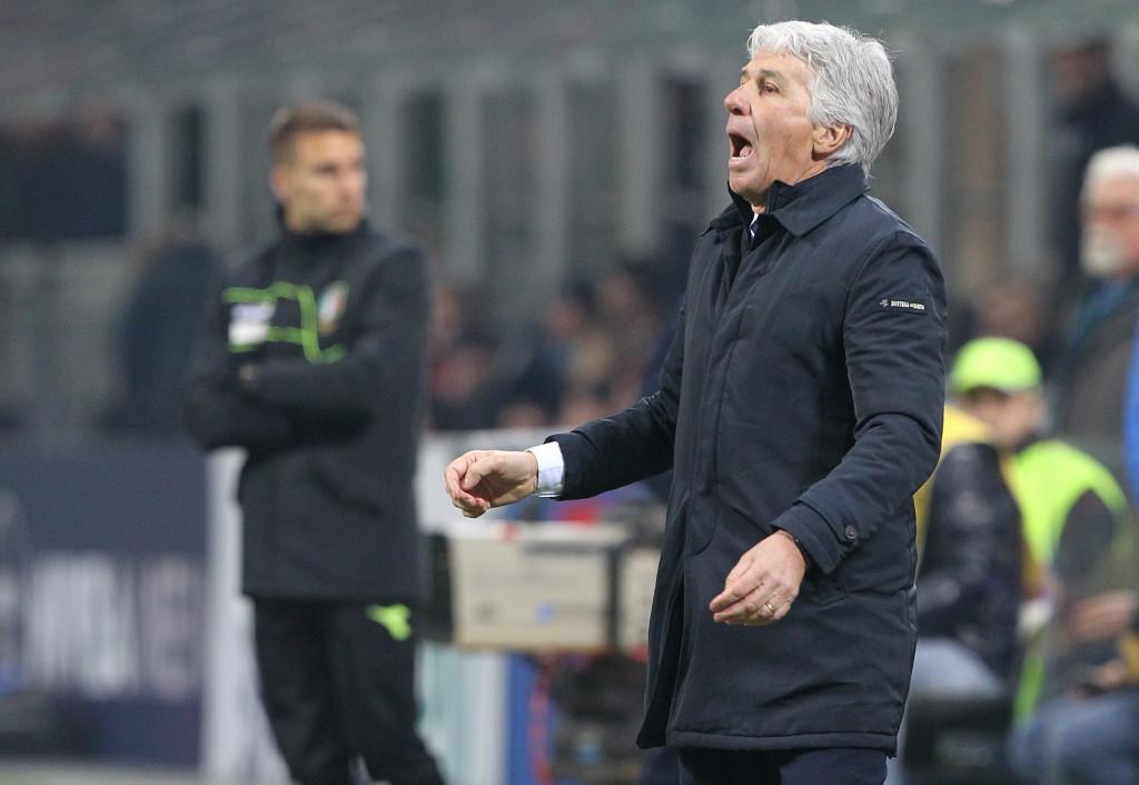 Atalanta coach Gian Piero Gasperini