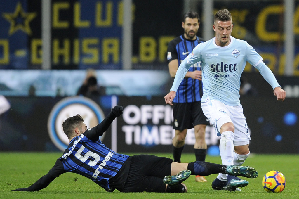 Staying put: Lazio midfielder Sergej Milinkovic Savic
