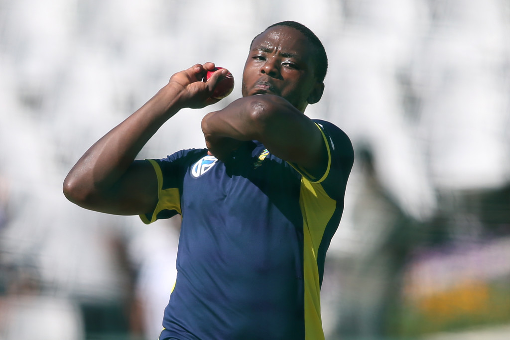 CAPE TOWN, SOUTH AFRICA - JANUARY 02: Kagiso Rabada during the South African national cricket team training session at PPC Newlands on January 02, 2018 in Cape Town, South Africa. (Photo by Shaun Roy/Gallo Images/Getty Images)