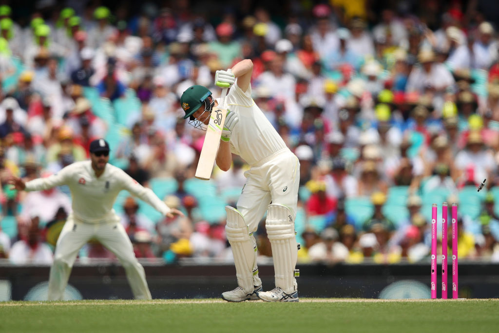 Bancroft's technique was all over the place as he was bowled for a duck.
