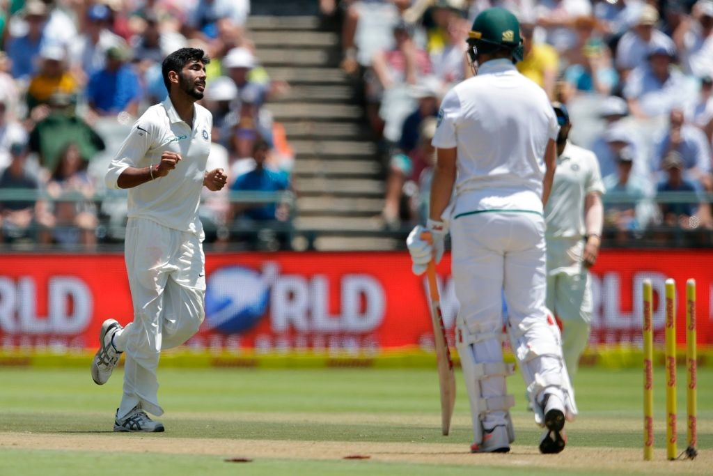 Bumrah bowled AB De Villiers for his first Test wicket