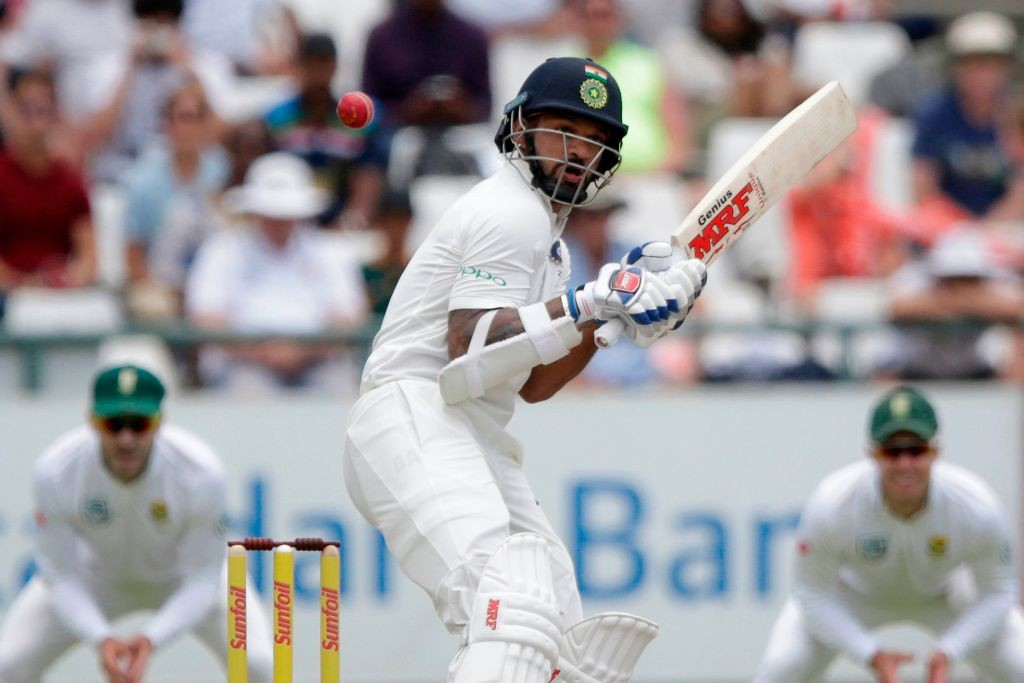Dhawan fell prey to the bouncer for the second time in the match.