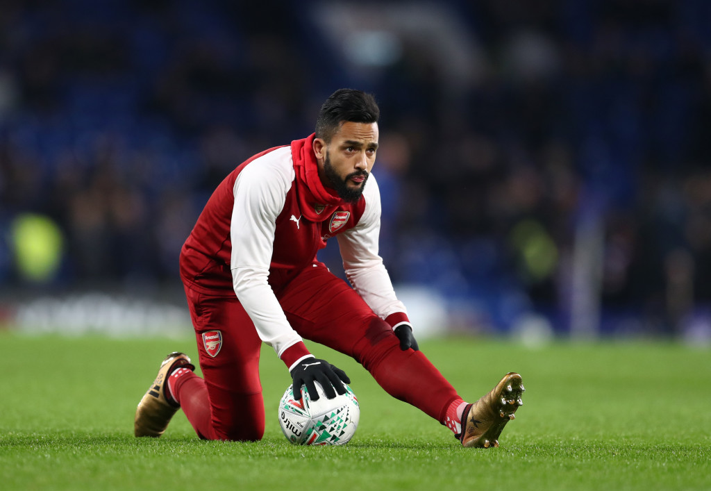 LONDON, ENGLAND - JANUARY 10: Theo Walcott of Arsenal during the Carabao Cup Semi-Final First Leg match between Chelsea and Arsenal at Stamford Bridge on January 10, 2018 in London, England. (Photo by Catherine Ivill/Getty Images)