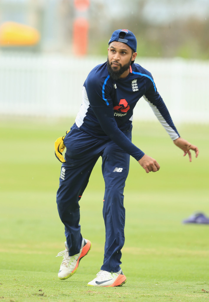 SYDNEY, AUSTRALIA - JANUARY 11: Adil Rashid of England during the warm up session before the One Day Tour Match between the Cricket Australia XI and England at Drummoyne Oval on January 11, 2018 in Sydney, Australia. (Photo by Mark Evans/Getty Images)
