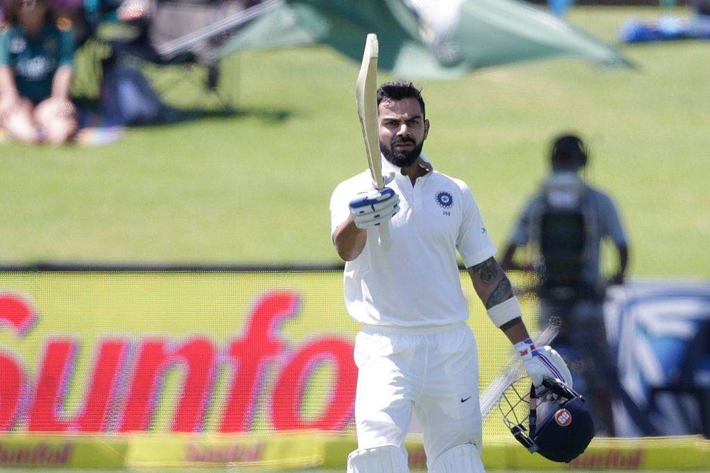 Virat Kohli led from the front for India with one og his finest Test tons.